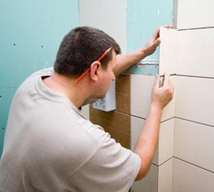 tiler fitting bathroom tiles