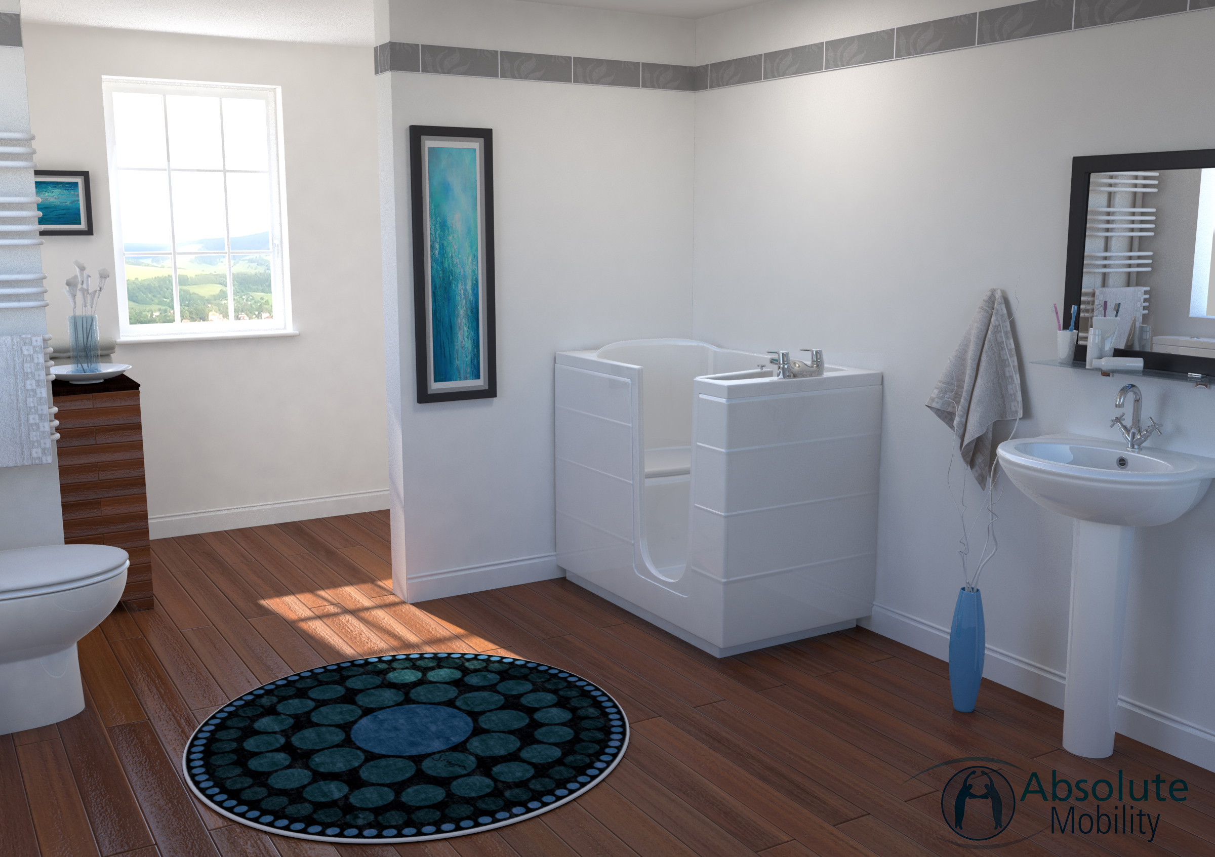 Tub Style Walk In Baths for the Disabled - Absolute Mobility
