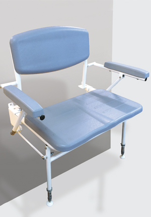Bariatric Extra Wide Shower Seat with back rest and arms