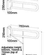 Hinged Arm Support Diagram