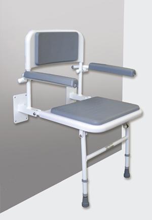 Deluxe Padded Shower Seat, Back & Armrests