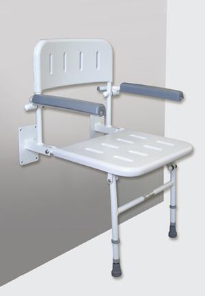 Deluxe Shower Seat, Back & Armrests