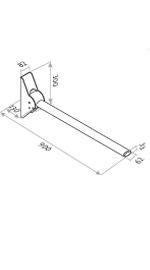 straight ergonomic grabrail diagram