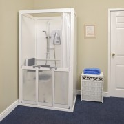 Cubicle with Single & Bi-fold Doors - Closed No Roof