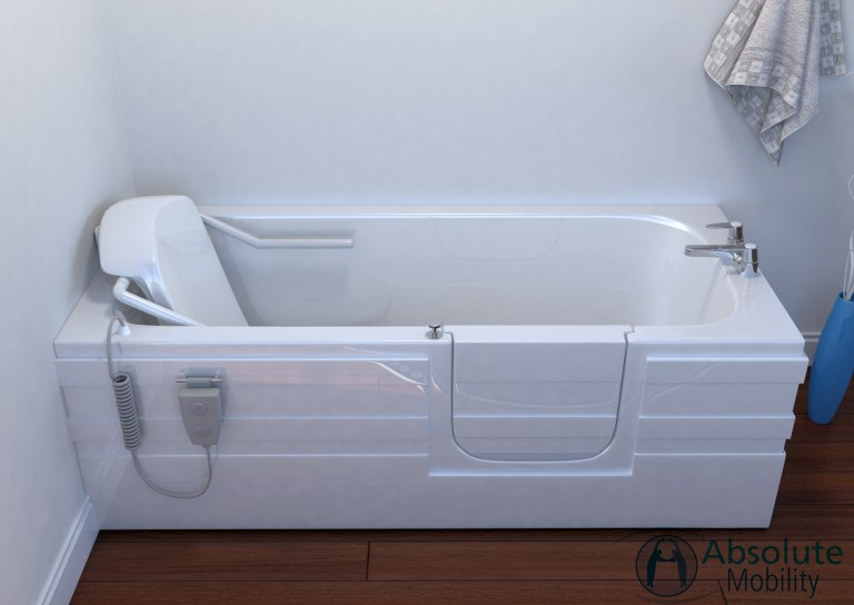 Aventis full length walk in bath with seat