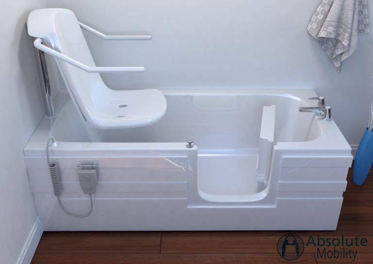 Aventis full length walk in bath with powered seat