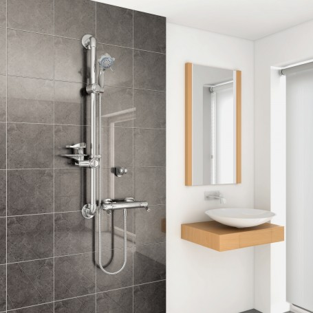 arka care thermostatic mixer shower absolute mobility. Black Bedroom Furniture Sets. Home Design Ideas