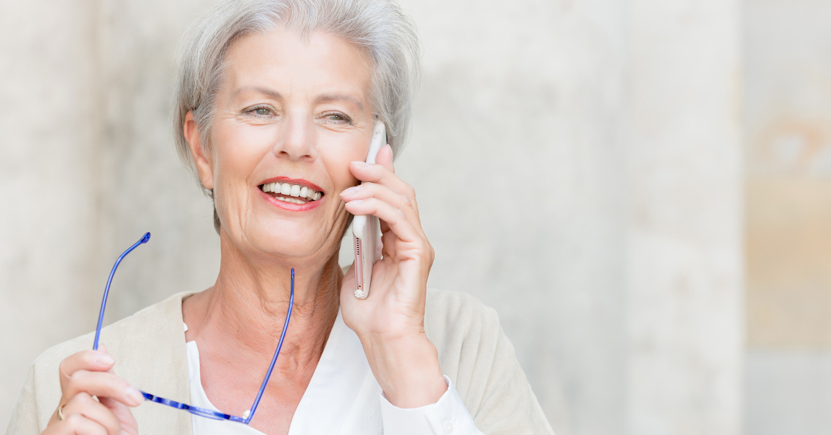 Elderly Lady on mobile phone