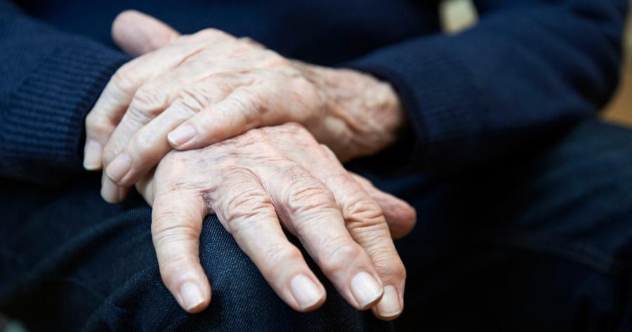 elderly mans hands