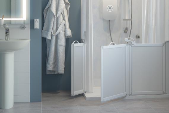 Half Height Carer Assist Shower Doors