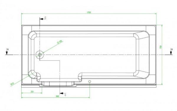 Lenis bath dimensions