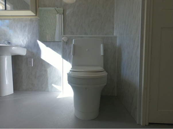 Clos-o-mat toilet installed in new accessible bathroom