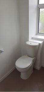 new white toilet