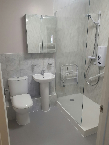 renovated bathroom designed for someone with arthritis