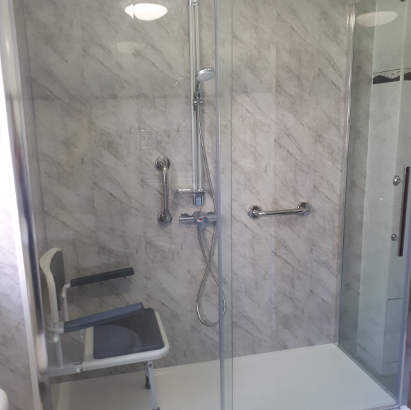 new easy to access shower