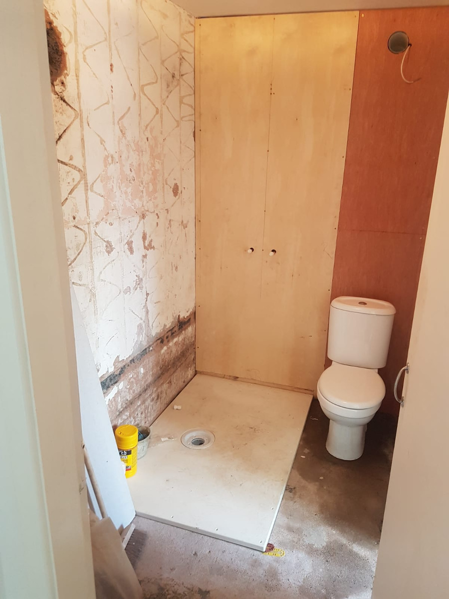 bathroom renovations in progress