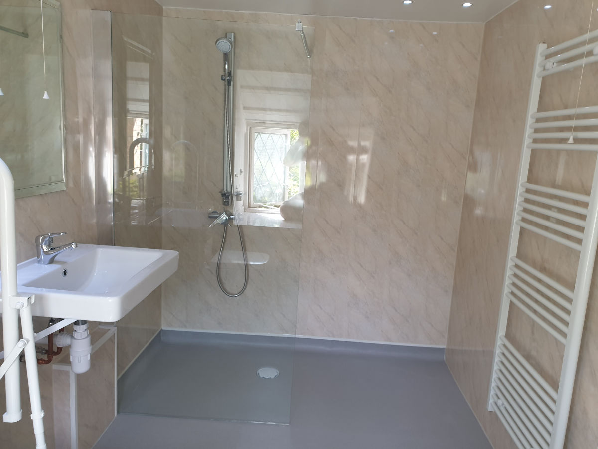 new accessible shower area