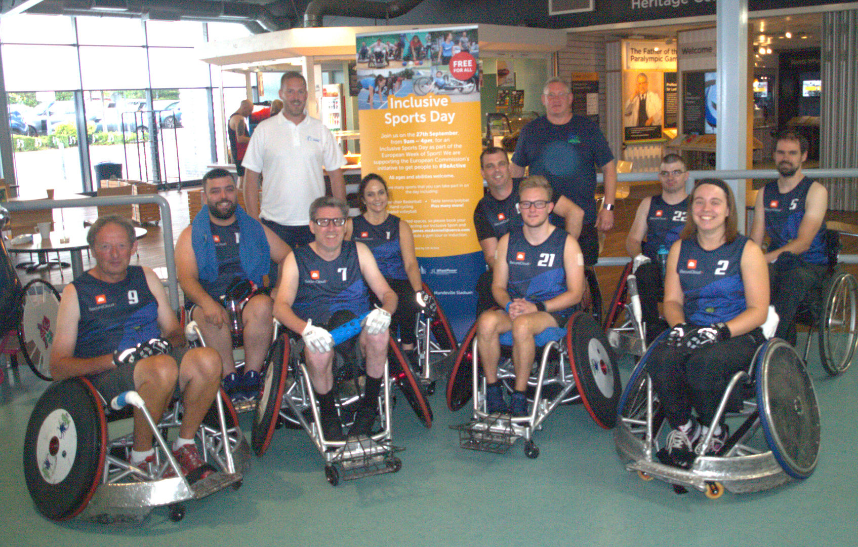 Berkshire Banshee Wheelchair Rugby Team With Official Sponsor