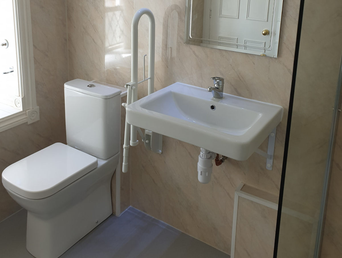 accessible toilet and sink