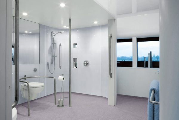 Disabled access shower