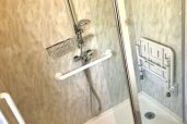Old Bath Out And New Easy Access Shower In